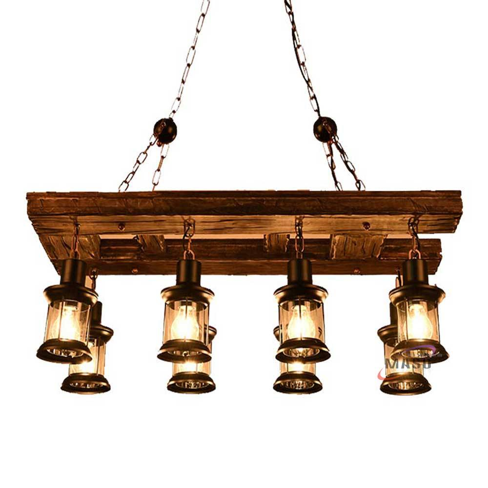 Vintage Wooden Lighting chandeliers & pendant lights