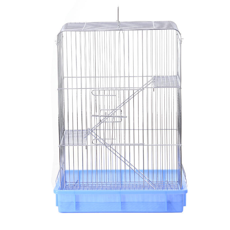 Low MOQ Luxury 3 Layer electroplated stainless steel small pet squirrel chinchilla cage