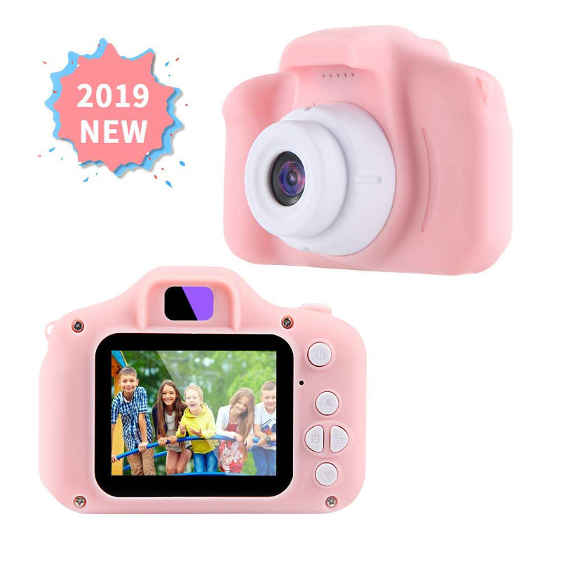 Best Popular Child Cartoon Small Toy Camera for 2019 Christmas Gift HD720p Kids Digital Camera