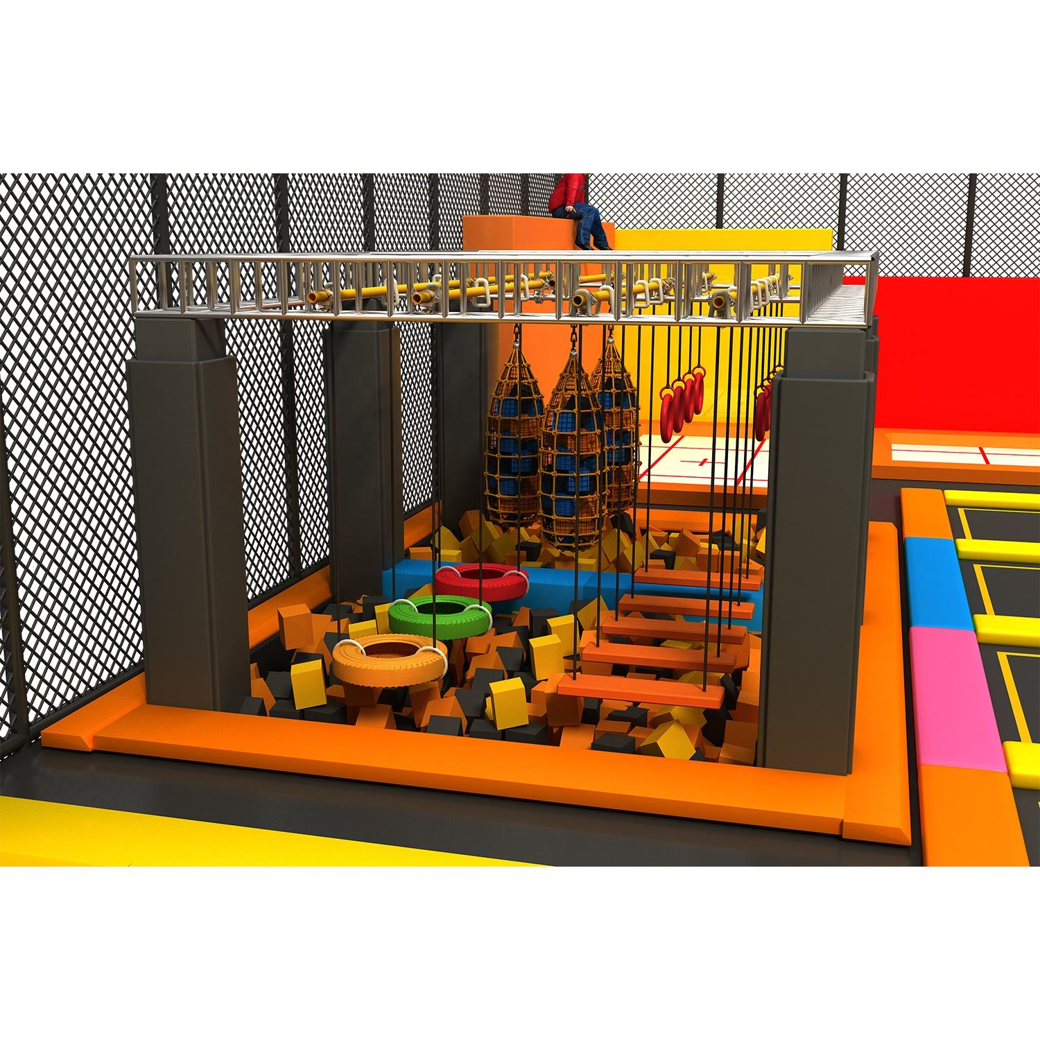 Pretty design kids play land, Top Selling indoor obstacle course equipment