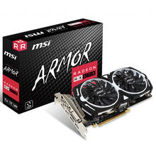MSI AMD Radeon RX 570 ARMOR 4G 8G Used Gaming Graphics Card with 256 bit Memory Used for Desktop Support Crossfire 2-Way