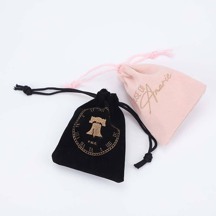 High Quality Velvet Jewelry Pouch Custom Color And Size Jewelry Velvet Pouch Fashion Black Velvet Pouch