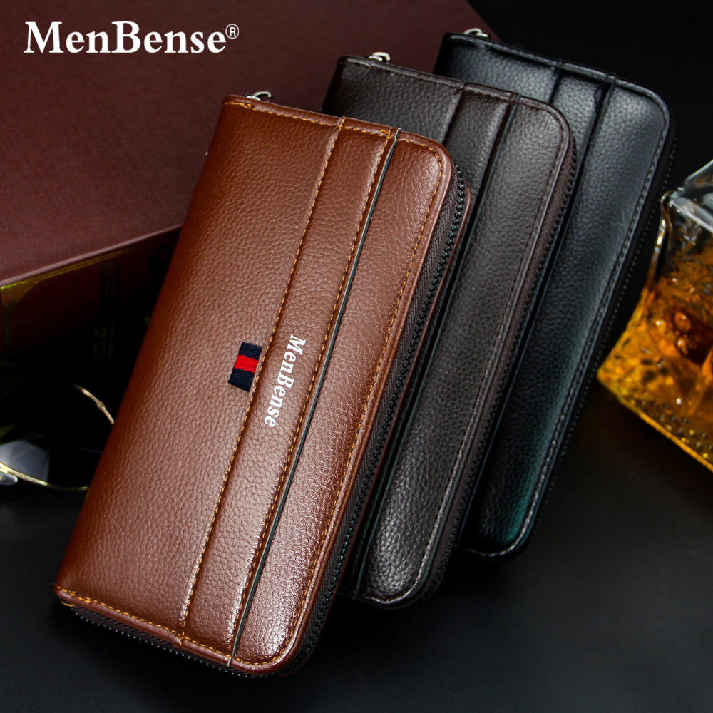 Wholesale A popular leisure multi-functional man's handbag Korean version business wallet long zipper mobile phone bag