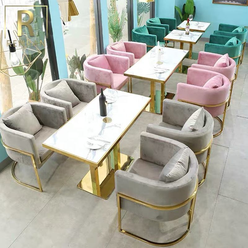 Foshan furniture factory metal table and chairs sets cafe patio furniture used commercial furniture restaurant luxury