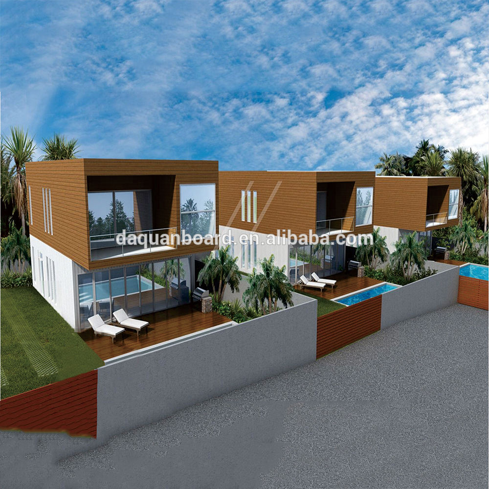 China Prefabricated Modular Homes Prefab Hotel and Vila cheap the Prefab House 158m2 double storey