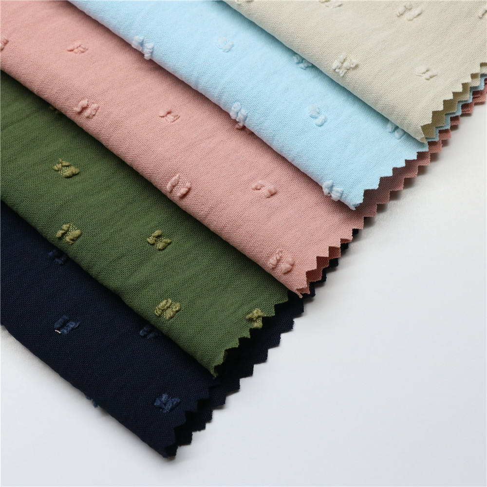 Shaoxing Textiles Modern 100 Polyester Plain Soft CEY Jacquard Fabric For Dress