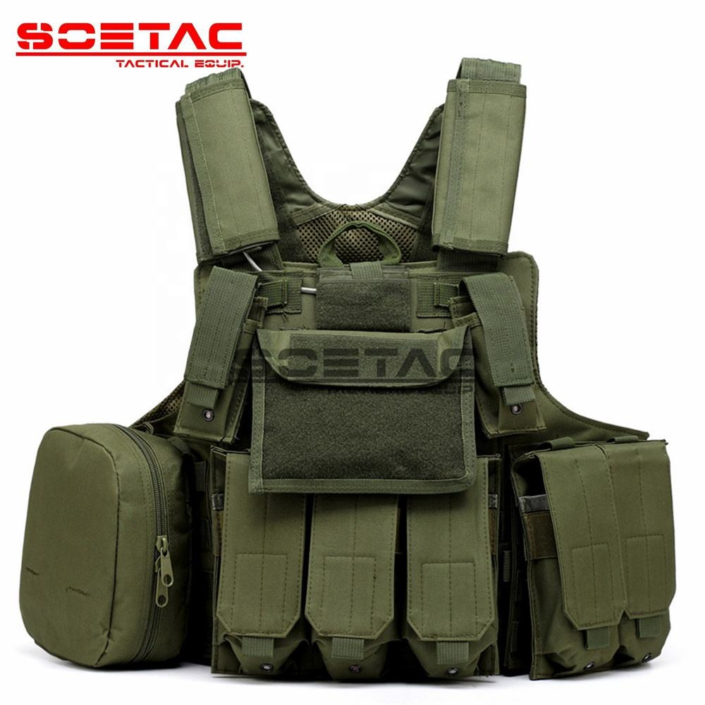 SOETAC Wholesale Combat Paintball Multifunction Bag Tactical Vest Rig