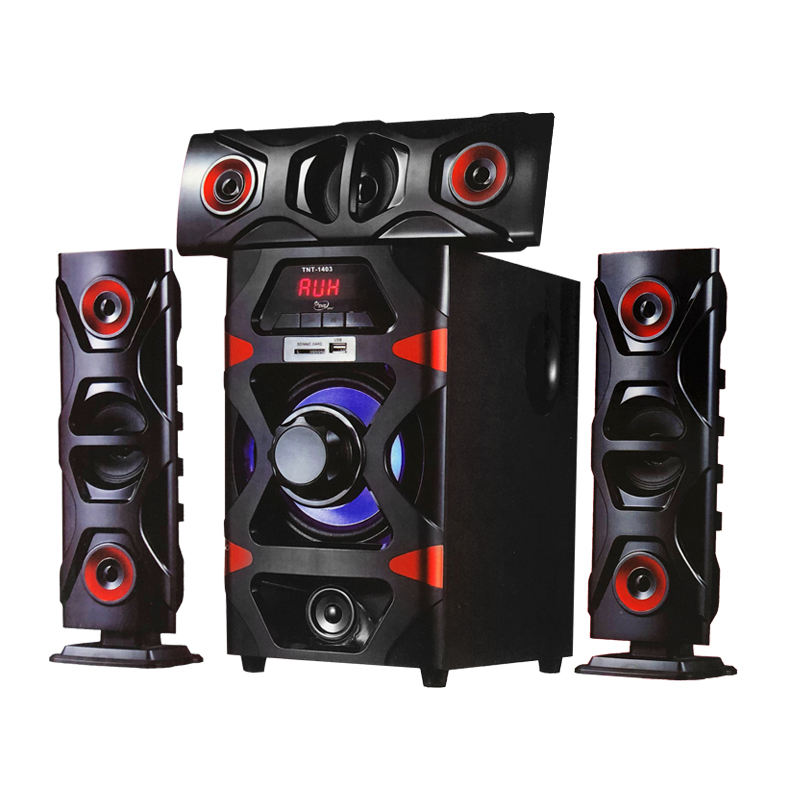 AC/DC TNTSTAR TNT-1403 3D REAL SOUND HI-FI MULTIMEDIA SPEAKER SYSTEM X-BASS HOME THEATER SYSTEM WITH REMOTE CONTROL