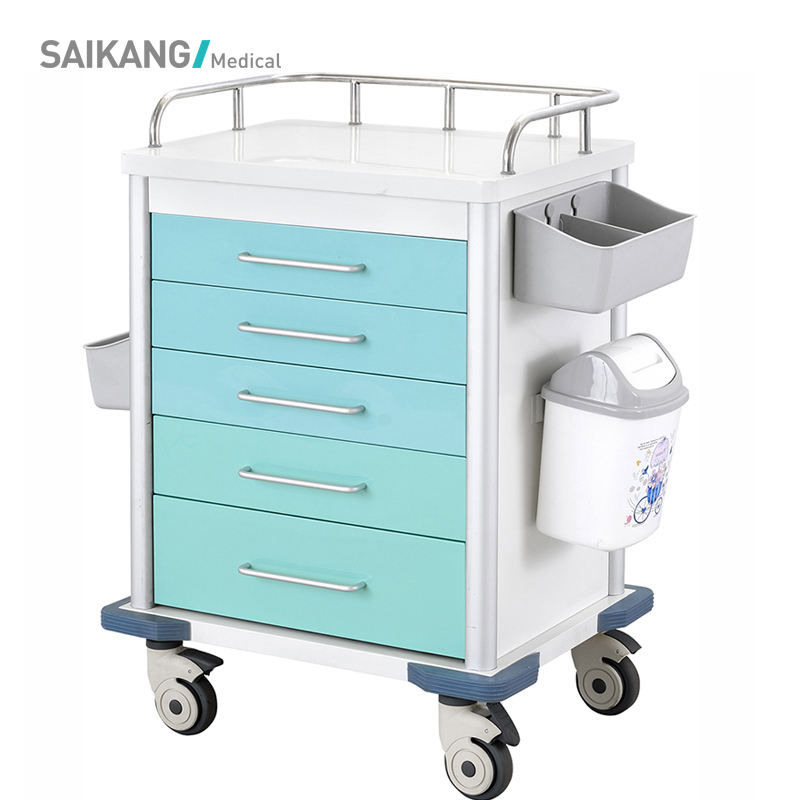 SKR040 Cheap Medical Device Emergency Trolley
