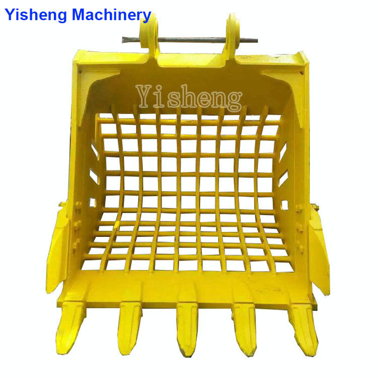 Good quality excavator bucket for SH120-3 SH330-3 SH330-3LC wheel loader skeleton bucket