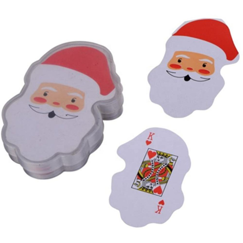Santa Claus Shaped Paper Playing Cards Christmas Cards