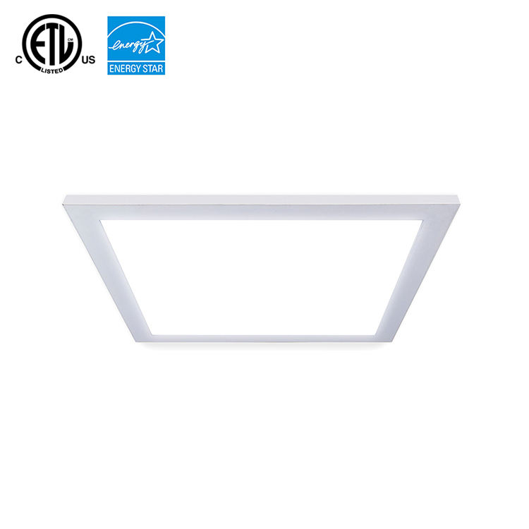 White/Silver Frame Suspended Ceiling Recessed LED Panel Light 600x600 595x595