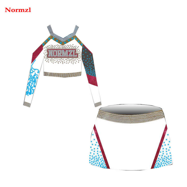Elogio dança vestuário adulto sublimation uniforme cheerleading manga longa tops personalizado china fabricante
