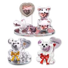 Cheap Price Small Crystal Bear Figurines Wedding Favors Return Gift