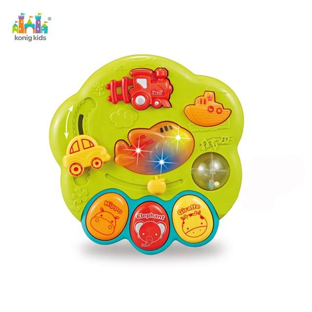 2020 Konig Kids Toddler Cartoon Plastic Musical Juguetes Early Education Toy With Lights Music