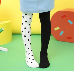 Hot sale fashionable kids little girls Cotton Long Asymmetrical pattern tights