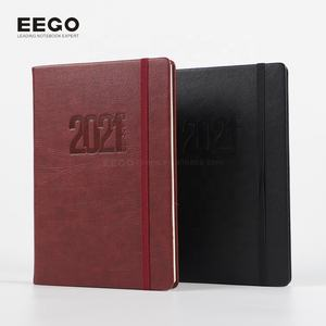 2019 promotion cheap a5 office folio custom composition printing leather journal book diary plan notebook