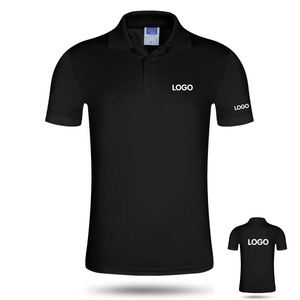 Wholesale Unisex Solid Color Polo Shirt Custom Embroidered Printing Men Short Sleeve Cotton Shirt Casual Golf Polo T-Shirt