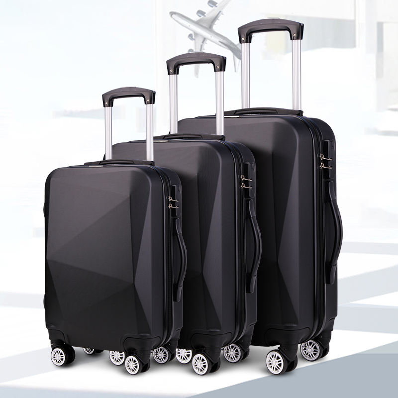 Diamond New Luggage Bags Supermarket Online ABS Hard Shell Suitcase 4 Spinner Travel Bags LuggageセットTrolley