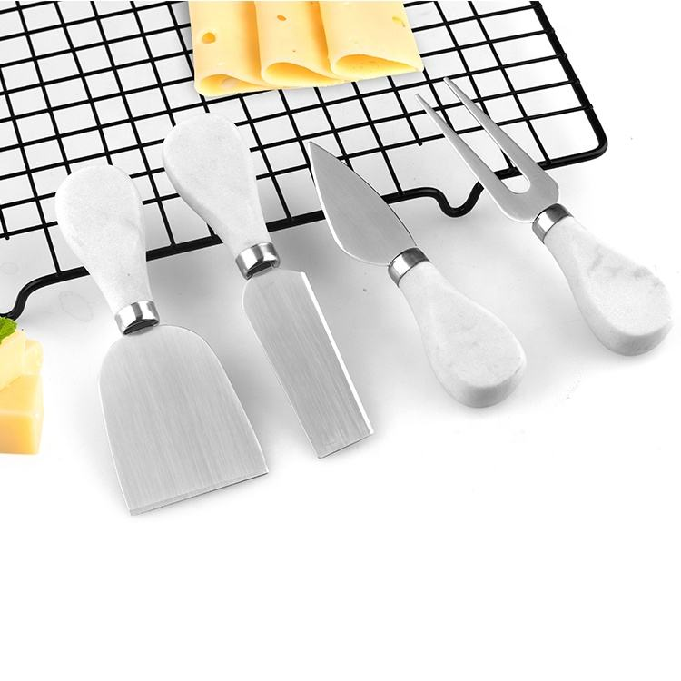 4 piece cheese knives cheese gadgets set, cheese knife set marble