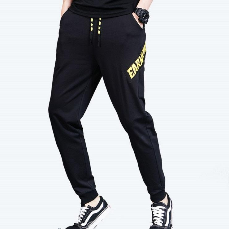 Hot selling mens athletic pants luxury cotton fleece sweatpants long white for men