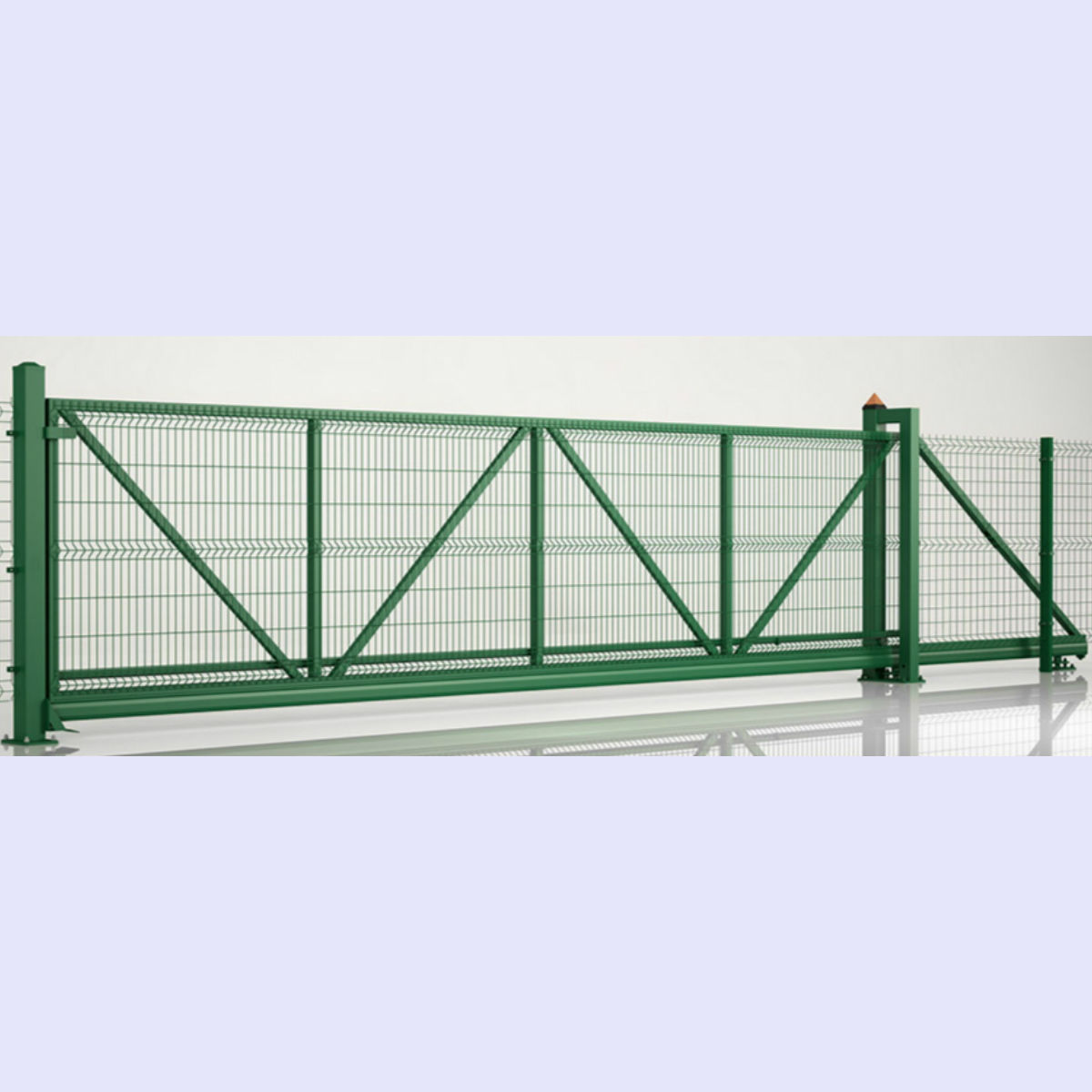 Safety Fence Classic Extra Length H 2 M * W 10 M 3D Curved Wire Mesh Manual Drive Cantilever-slide Fence Gate System For Safety On Sale