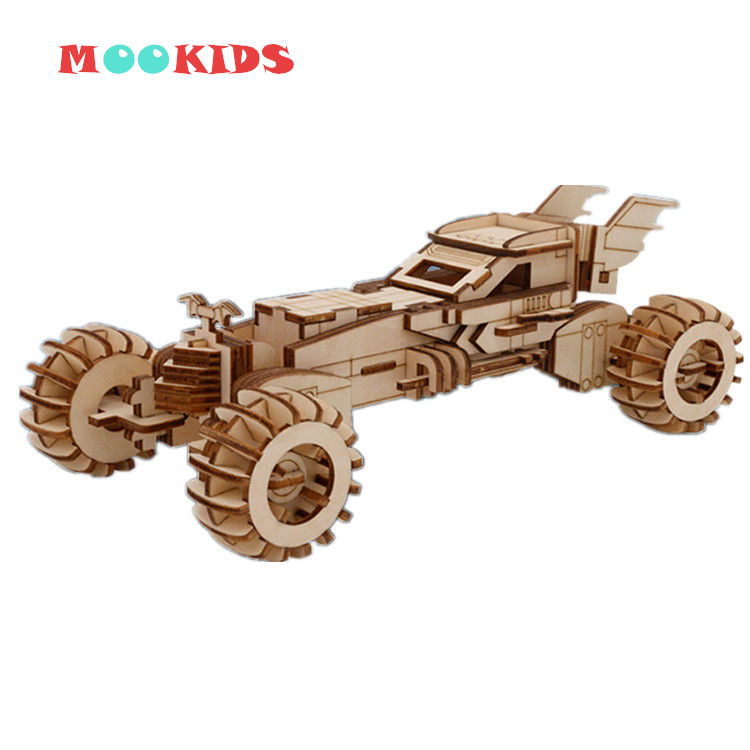 DIY wooden puzzle car Toys 3D Wooden Puzzle Games Cartoon Chariot Vehicle Car model building Educational Toys Adult toys
