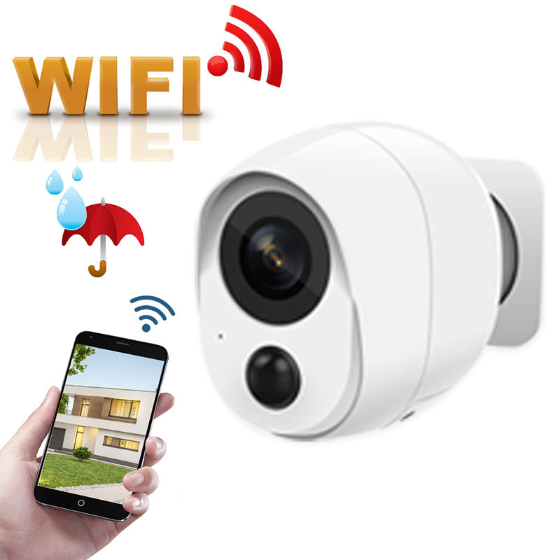 100% Wire-Free Rechargeable Battery WIFI IP Camera 1080P Weatherproof Outdoor Indoor CCTV Camera Wireless P2P PIR Wifi Cam