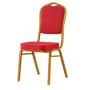 Free sample cheap stackable hotel wedding used aluminum gold banquet chairs for sale