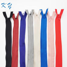 custom color 3# close end invisible zipper with suitable price for skirts and home taxtile