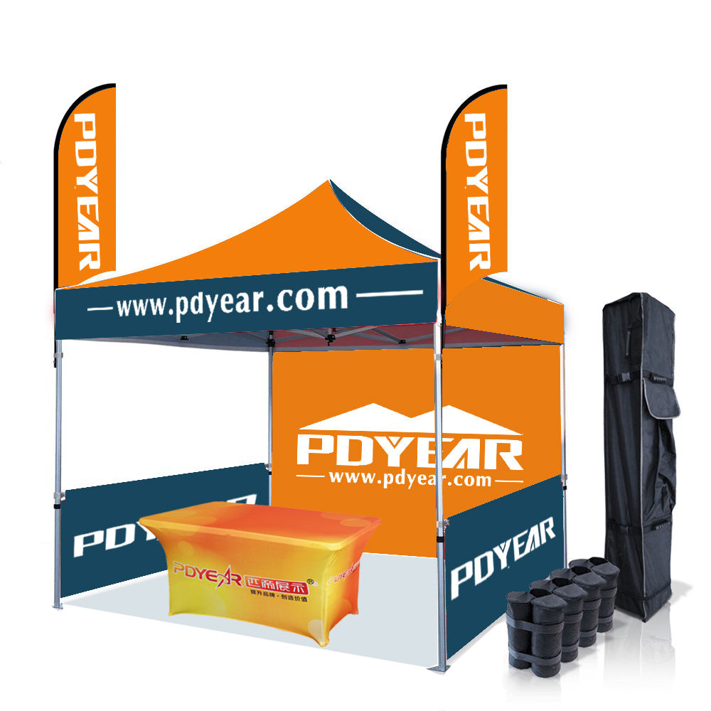 Aluminum [ Outdoor Tent Exhibition Tents ] Printed Pop Up Tent 10x10 Advertising Logo Outdoor Aluminum Trade Show Tent Exhibition Event Marquee Gazebos Canopy Pop Up Custom Printed Tents