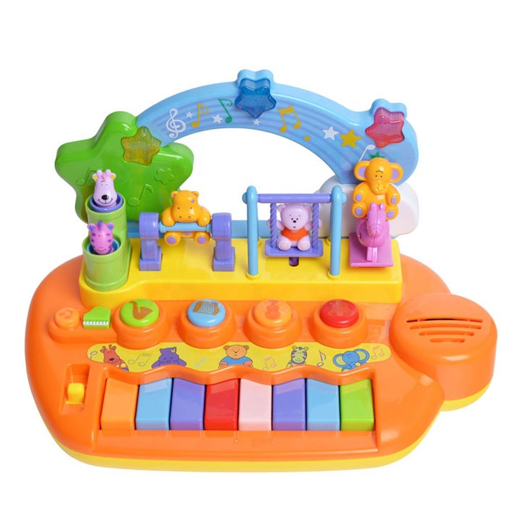 cartoon dancing animals electric organ piano keyboard with 4 instrument sounds