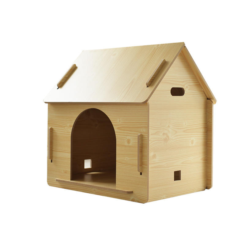 Customized Modern Solid Wood Pet Dog House Doghouse