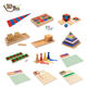 sales high quality Wooden Montessori sensory mathematics education suit toy early childhood education language Wooden toys