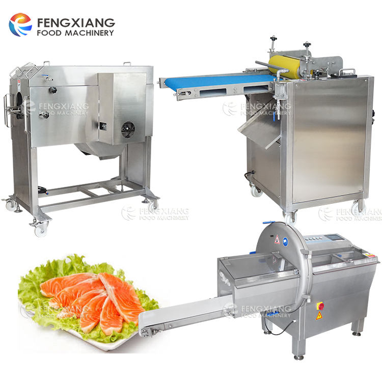 Automatic Fish Filleting Machine Scales Removal Peeling Slicing Cutting Processing Machine