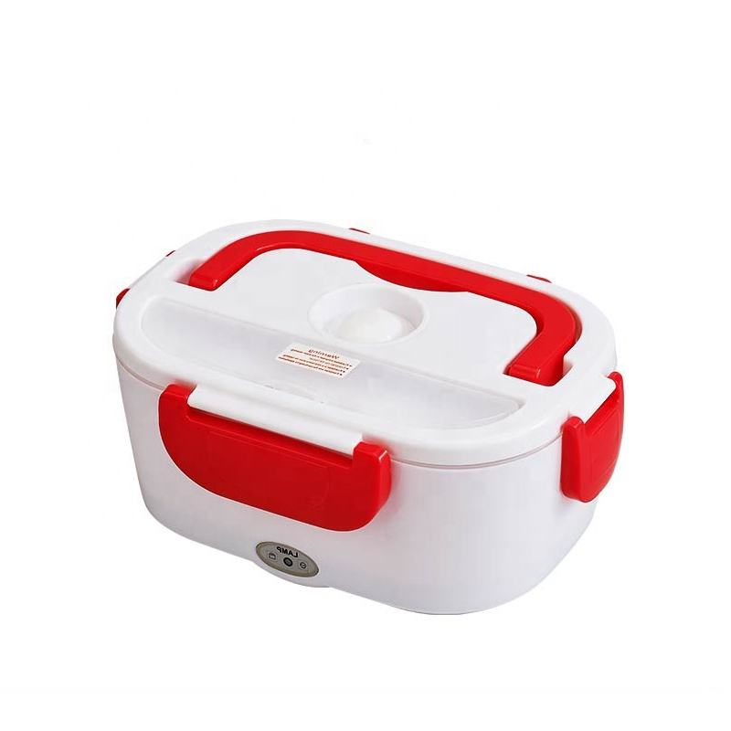 Wholesale price food grade pp plastic + stainless steel electric lunch box