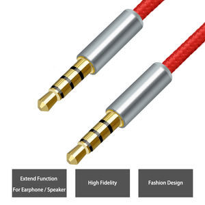 Jianhan Best Price Gold-Plated 3.5mm 4pole Audio aux male to Audio male Cable For Car Aux