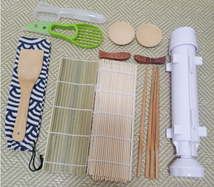 DIY Sushi Roller Machine All In One Sushi Making Kit with Bazooka