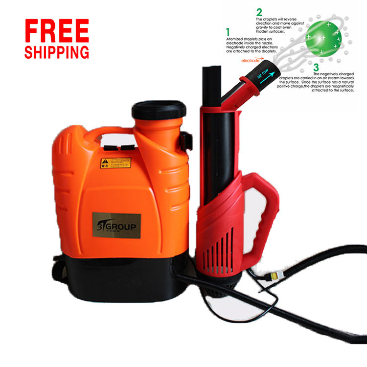 products cordless ulv electrostatic spray gun backpack sprayer rechargeable electric sprayer