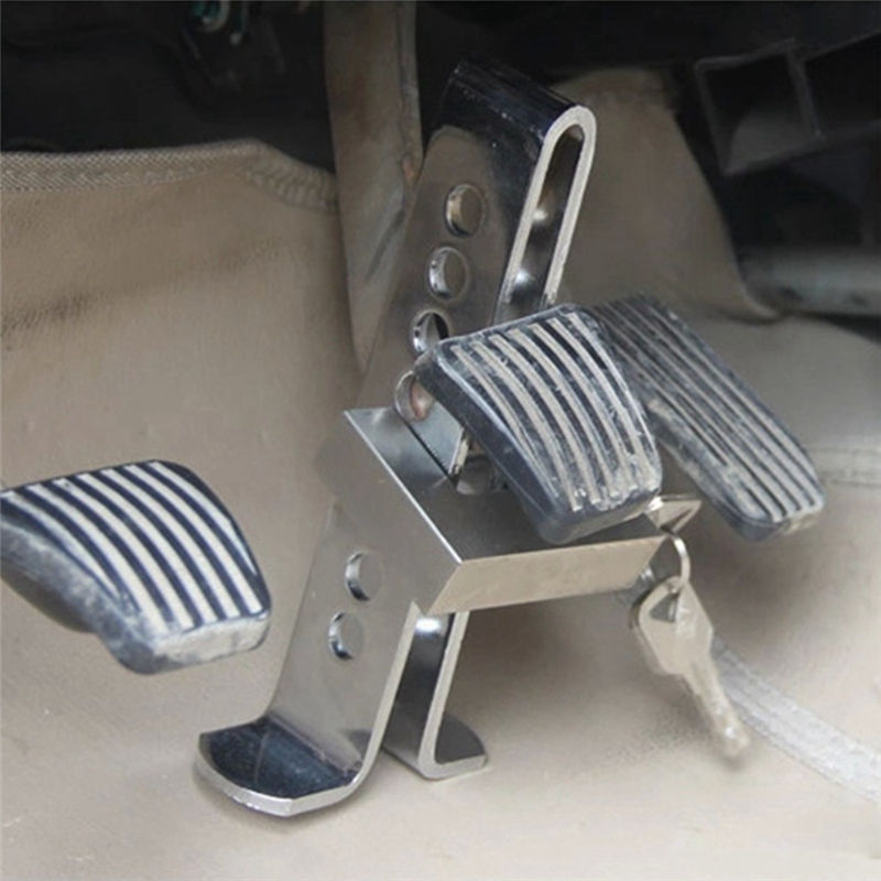 High Quality Alloy Steel Car Security Lock Automobile Hidden Anti Theft Brake Throttle Clutch Pedal Lock