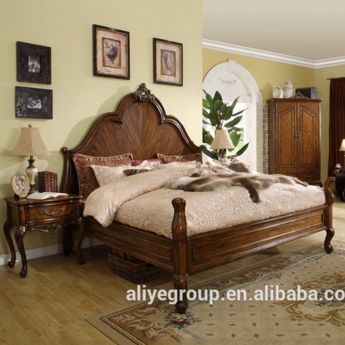 MM7-bedroom furniture sets wood/bedroom furniture type antique sleigh beds