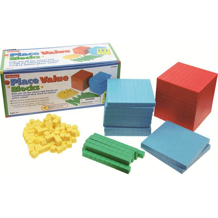 Educational Toy Blocks Plastic Counting Cubes Maths Cubes Square