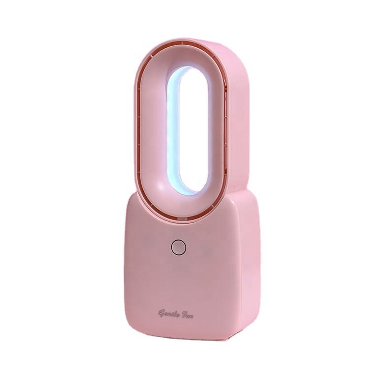 Amazon hot selling Fashionable style portable cute pink personal handheld bladeless USB mini fan