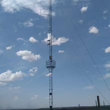 Telecommunication Round Steel Triangle Mast Guyed Tower