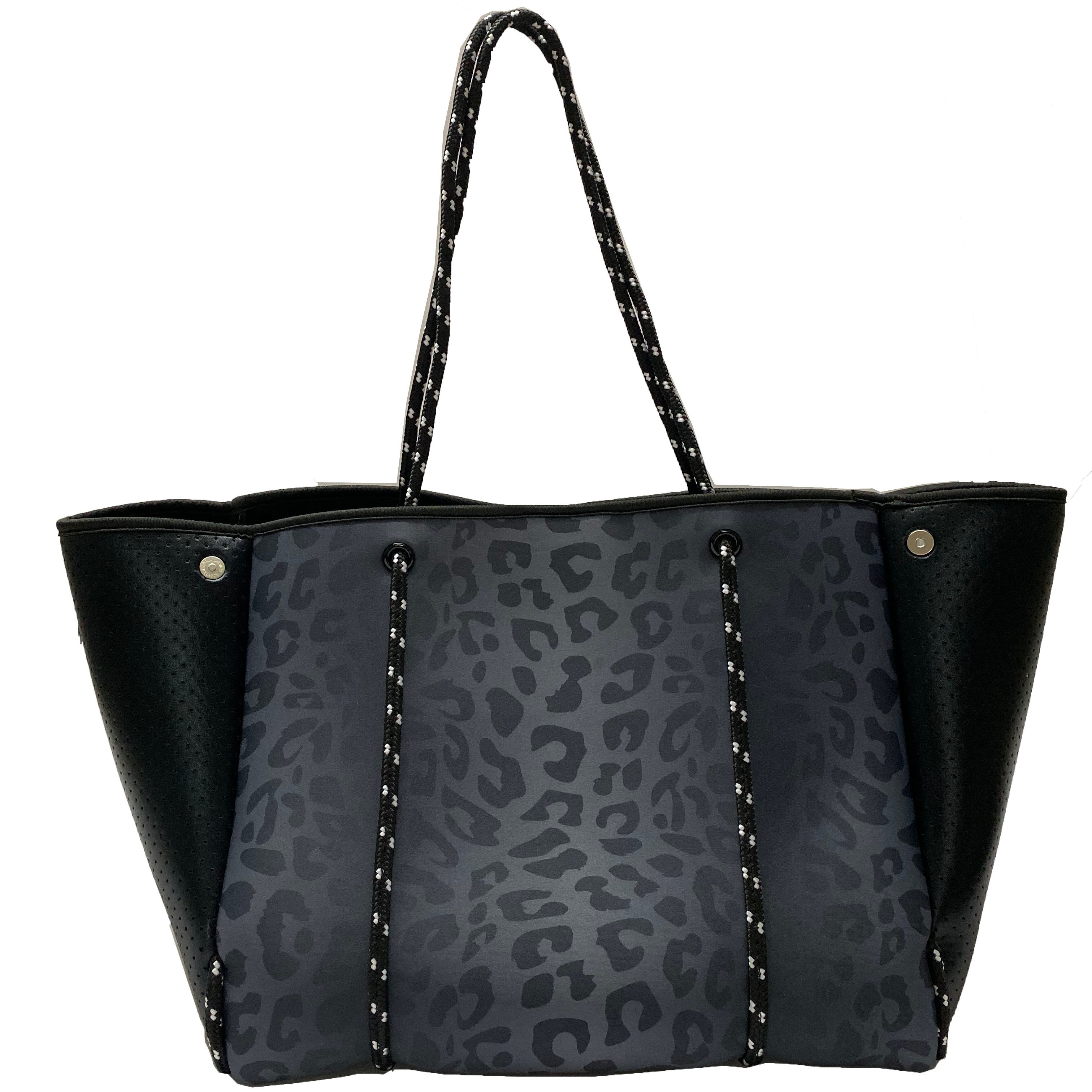 2020 leopard printing neoprene shoulder bag