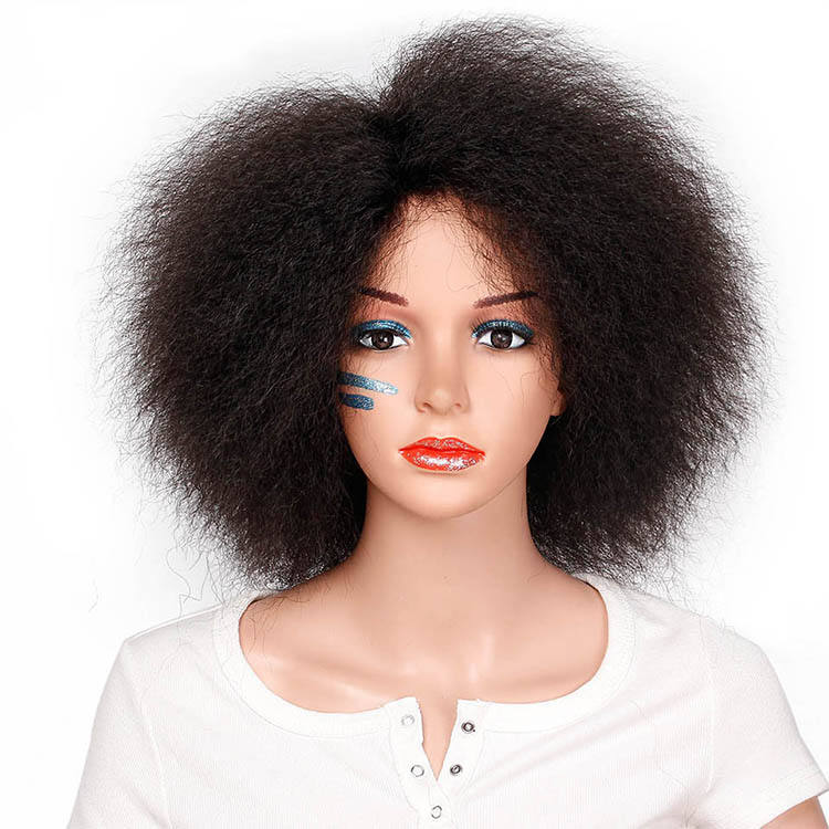 Aisi Beauty Wholesale Cheap Vendor New Design Multi Color Afro Kinky Fluffy Short Bob Wig For Black Women Synthetic Hair Wigs