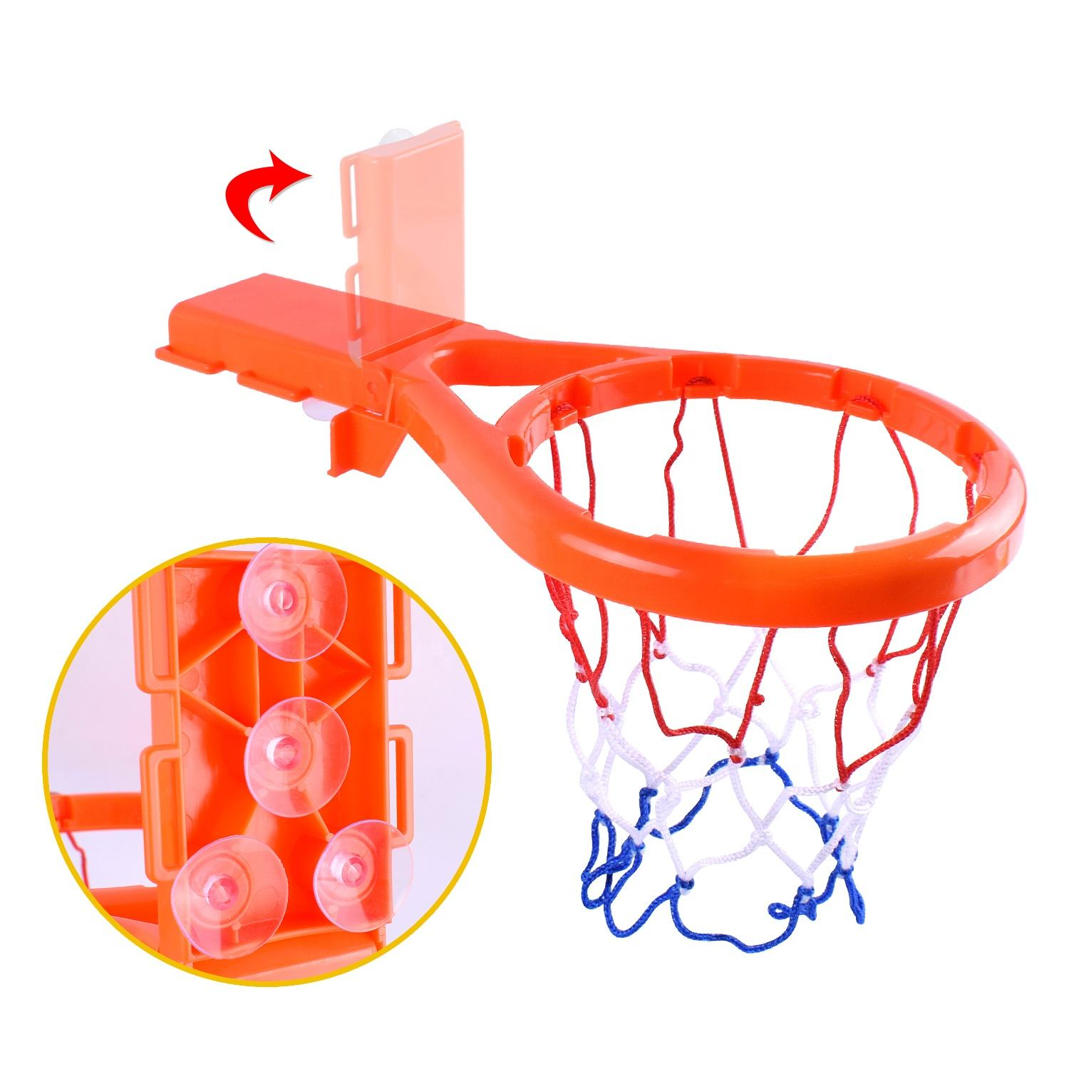 baby toddler shower toys 2 in 1 shooting bath basketball hoop with PVC balls set