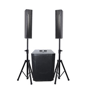 Accuracy Pro Audio WI312ADU Wooden Active Column Speaker Powered Portable Live Sound System With Bluetooth