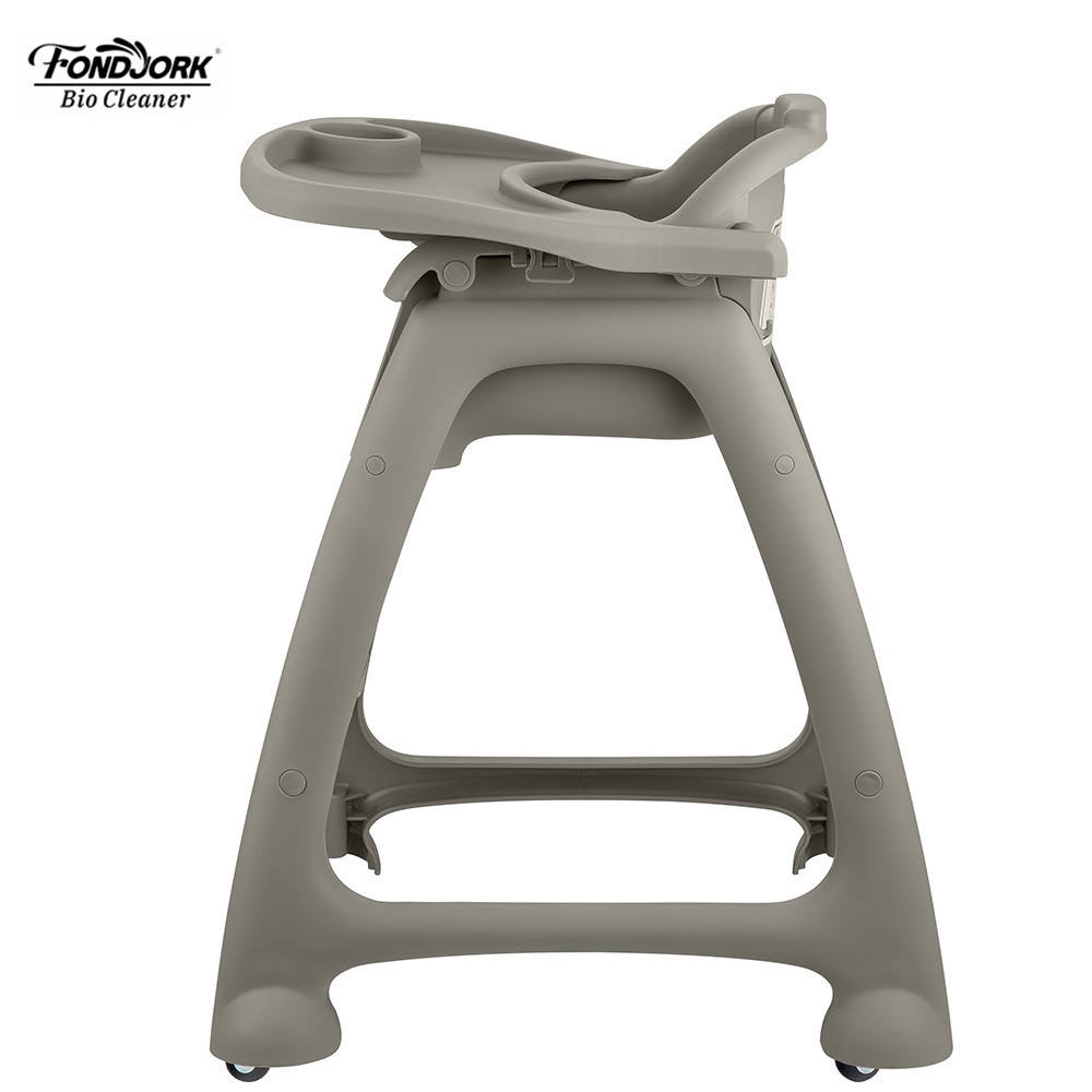 Food Grade PP Baby Eating High Chair Feeding Dining Chair With Pulley
