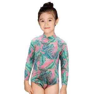 Julysand kids long sleeve one piece swimwear little girls high quality swimwear rash guard